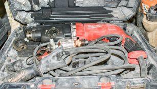 Milwaukee 110v SDS rotary hammer drill c/w carry case HS