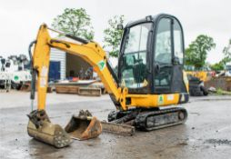 JCB 8016 1.5 tonne rubber tracked mini excavator Year: 2013 S/N: 2071343 Recorded Hours: 1640 blade,