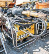JCB Beaver petrol driven hydraulic power pack c/w anti-vibe breaker & hoses A631471/A674477