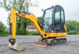 JCB 8016 1.5 tonne rubber tracked mini excavator Year: 2014 S/N: 20171553 Recorded Hours: 2238