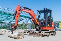 Kubota KX61-3 2.6 tonne rubber tracked mini excavator Year: 2013 S/N: 80221 Recorded Hours: 3158