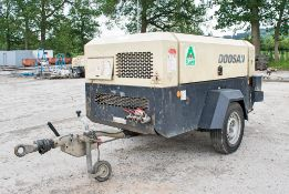 Doosan 7/72 260 cfm diesel driven fast tow air compressor Year: 2014 S/N: S42115 Recorded Hours: 711