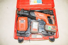 Hilti WSR 22-A 21.6v cordless reciprocating saw c/w 2 batteries, charger & carry case A698247