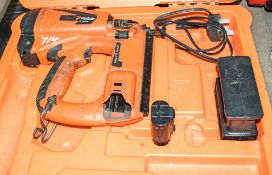 Paslode Impulse nail gun c/w battery, charger & carry case A729442