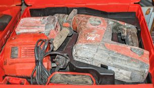 Hilti TE30-A36 36v cordless SDS rotary hammer drill c/w 2 - batteries, charger & carry case A745932