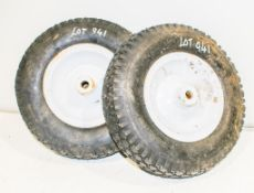2 - 6 inch pneumatic wheels & tyres