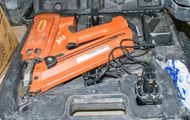 Universal nail gun c/w 2 - batteries, charger & carry case HS 18250
