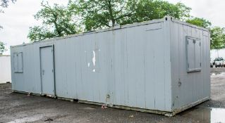32 ft x 10 ft steel anti-vandal office site unit c/w keys BB800281