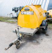 Western Abbi 950 litre bunded fuel fast tow fuel bowser c/w manual pump, delivery hose & nozzle