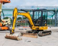 JCB 8030 ZTS 3 tonne rubber tracked excavator Year: 2014 S/N: 32119 Recorded hours; 1350 blade,