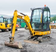 JCB 8016 1.5 tonne rubber tracked mini excavator Year: 2013 S/N: 2071311 Recorded Hours: 1736 blade,