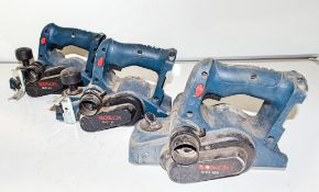 3 - Bosch GHO 18v power planers ** No batteries or chargers **