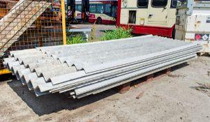 Pallet of fibre cement roof sheets