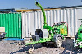 Greenmech 130 petrol driven fast tow wood chipper S/N: 11025