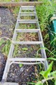 5 tread aluminium step ladder 326