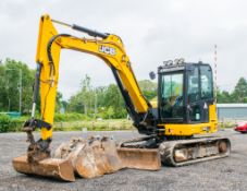 JCB 86 C-1 8 tonne rubber tracked excavator Year: 2017 S/N: 42716 Recorded Hours: 2530 piped, blade,