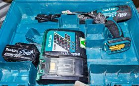 Makita 18v cordless power drill battery, charger & carry case A598132