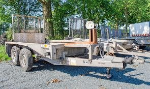 Ifor Williams GX 84 8' by 4' tandem axle plant trailer S/N: 515031 c/w manual winch