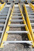 10 tread glass fibre framed aluminium step ladder