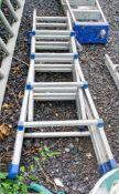 Folding aluminium ladder