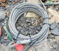 Wire rope & hook