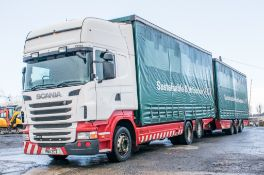 Scania R440 Topline 6 x 2 26 tonne curtain sided draw bar lorry Registration number: PN11 ZGT Date
