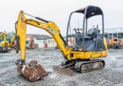 JCB 8014 CTS 1.5 tonne rubber tracked mini excavator Year: 2014 S/N: 2070518 Recorded Hours: 373