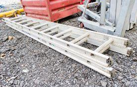 2 stage extending aluminium step ladder AP