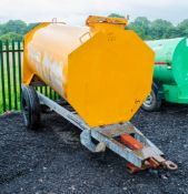 Mainway500 gallon site tow bunded fuel bowser c/w 12 volt electric pump, delivery hose, and