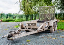 Indespension 8' by 4' tandem axle plant trailer S/N: 112589