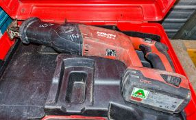 Hilti WSR 22-A cordless reciprocating saw c/w carry case & battery ** No charger **