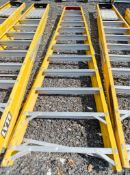12 treadglass fibre framed step ladder 3370