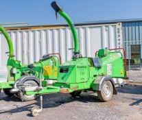 Greenmech 130 petrol driven fast tow wood chipper S/N: 132227