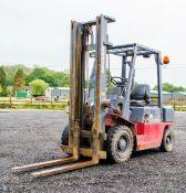 Nissan FJ202A 25U 2.5 tonne diesel driven fork lift truck S/N: 776429 Recorded Hours: 6882