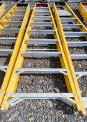 10 treadglass fibre framed step ladder 1410-6481