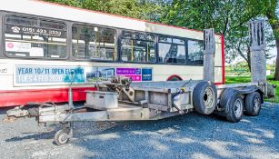 Ifor Williams GP126 12' by 6' tandem axle plant trailer c/w 12 volt electric winch S/N: 389449
