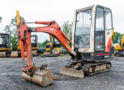 Kubota KX36-3 1.5 tonne rubber tracked mini excavator Year: S/N: 5528 blade, piped & 3 buckets