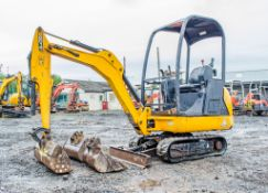 JCB 8014 CTS 1.5 tonne rubber tracked mini excavator Year: 2014 S/N: 2070494 Recorded Hours: 1025