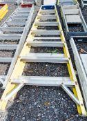 8 tread glass fibre framed step ladder