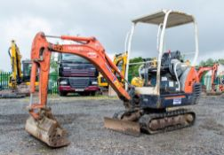 Kubota KX36-3 1.5 tonne rubber tracked mini excavator Year: S/N: 7075955 Recorded Hours: 3843 blade,