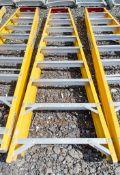 10 treadglass fibre framed step ladder