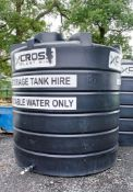 Enduramax 10,000 litre plastic water tank EN1948