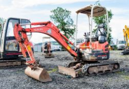Kubota U17-3 1.7 tonne rubber tracked mini excavator Year: 2011 S/N: H13948 Recorded Hours: 2779