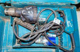 Makita 240v power drill c/w carry case