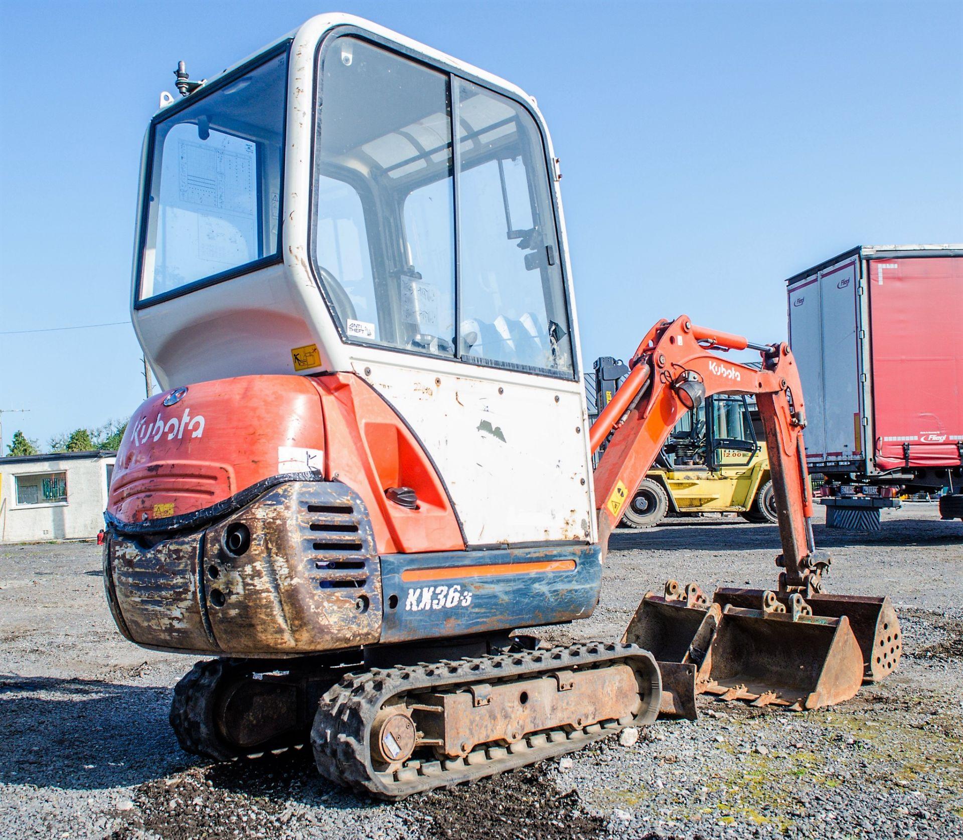Kubota KX36-3 1.5 tonne rubber tracked mini excavator Year: 2007 S/N: Z077298 Recorded Hours: 4205 - Image 4 of 18