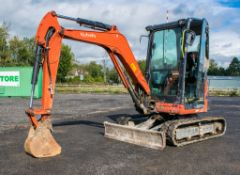 Kubota U27-4 2.7 tonne zero tail swing rubber tracked mini excavator Year: 2016 S/N: 58403
