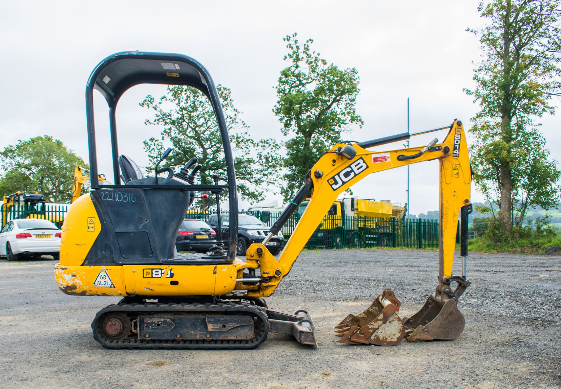 Lot 17 - JCB 8014 CTS 1.4 tonne rubber tracked mini excavator  Year: 2014 S/N: 70483 Recorded Hour: 1700