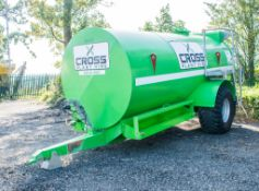 Cross Plant 9000 litre bunded fuel bowser Year: 2018 S/N: 26843 c/w: petrol driven pump , delivery
