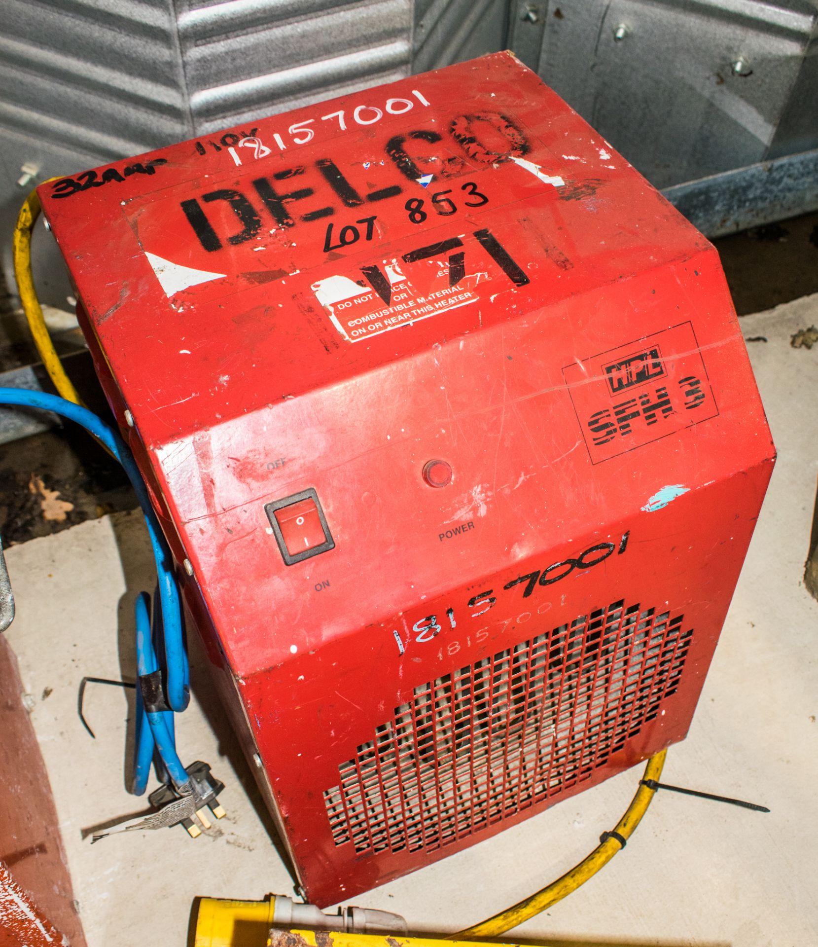 Lot 853 - HPL SFH3 110v fan heater