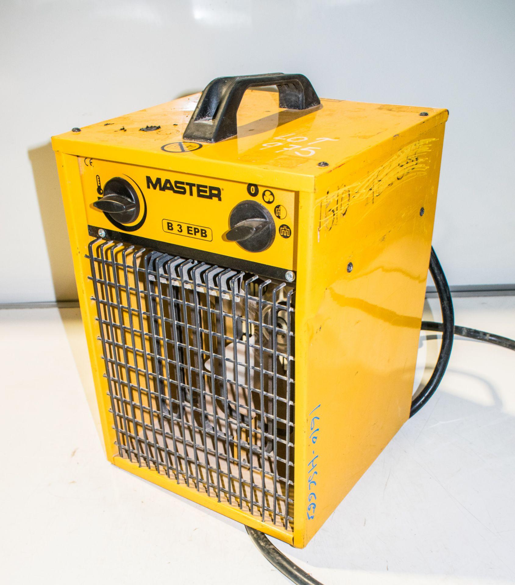Master 110v fan heater